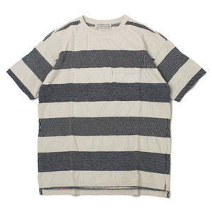 レミレリーフ / REMI RELIEF / インディゴ 太ボーダー 半袖 Tシャツ / 返品・交換可能|luccicare|07