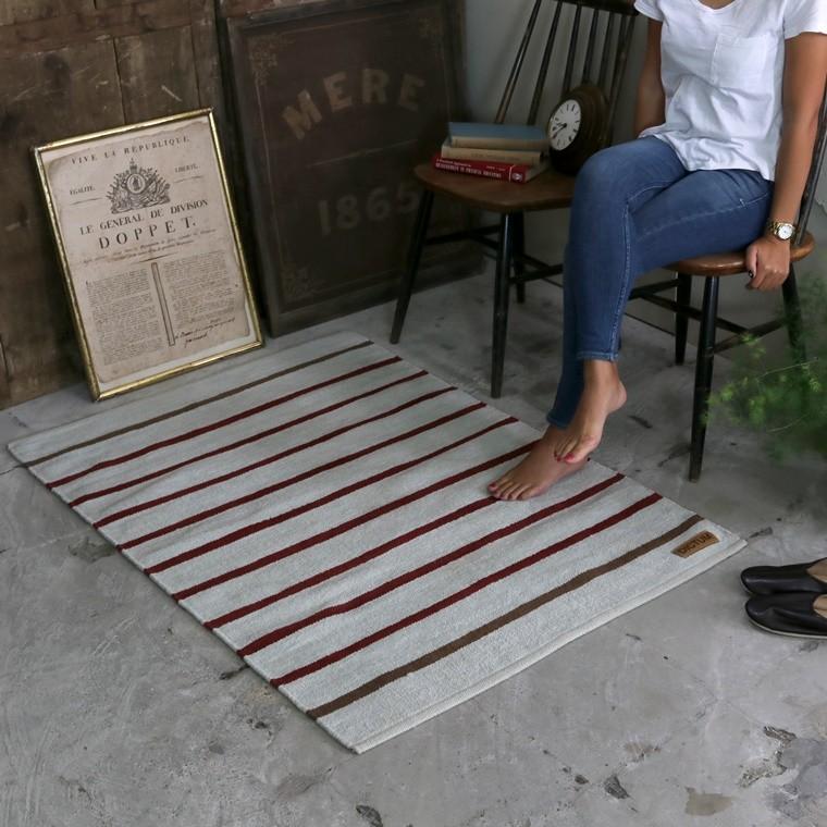 インドコットンシェニール手織りラグマット
