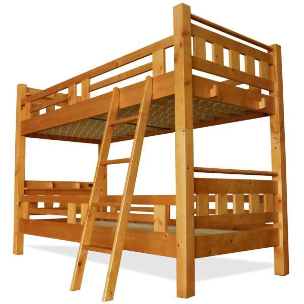 耐荷重500kg レビューで1年補償 二段ベッド 2段ベッド 宮付き 大臣3(本体のみ)コンセント付き-ART 寮 下宿 社員 社宅 大人用 耐震 子供部屋木製安全|luckykagu|18