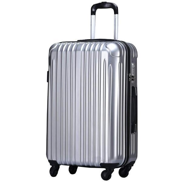 b595b6ac72 スーツケース Lサイズ 軽量 2年間修理保証付き 大型 キャリーバッグ キャリーケース 鏡面