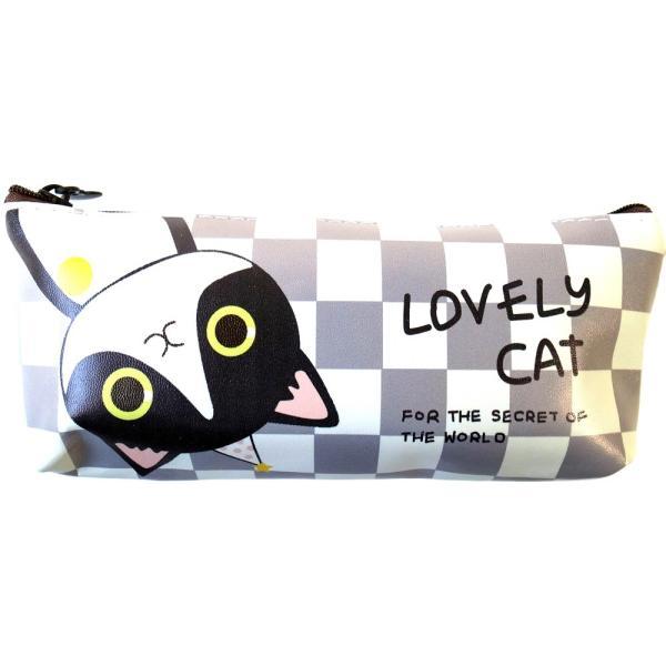 ラブリーキャット ペンケース 4種 ねこ ネコ 猫 動物 キャラクター 筆箱 小物入れ ポーチ 文房具 筆記用具 ケース lupo 10
