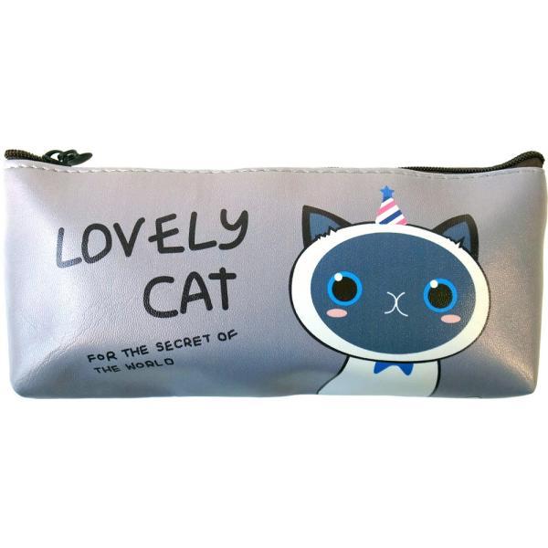 ラブリーキャット ペンケース 4種 ねこ ネコ 猫 動物 キャラクター 筆箱 小物入れ ポーチ 文房具 筆記用具 ケース lupo 07