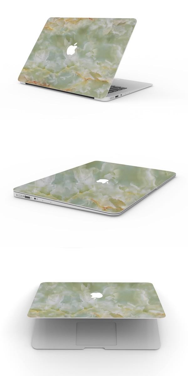 MacBookスキンシール翡翠2