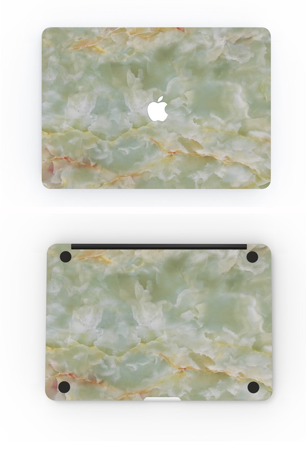 MacBookスキンシール翡翠3