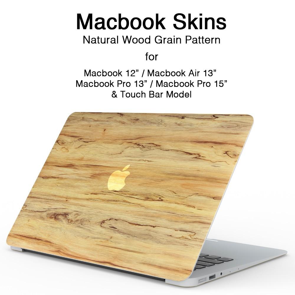 MacBookスキンシール木目1