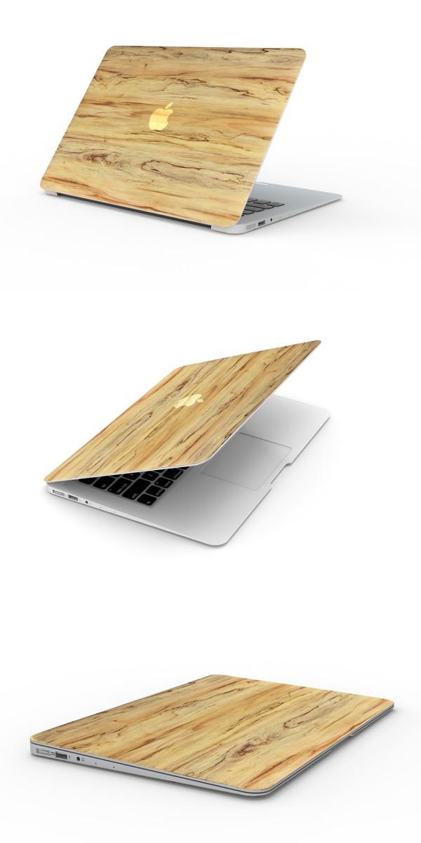 MacBookスキンシール木目2