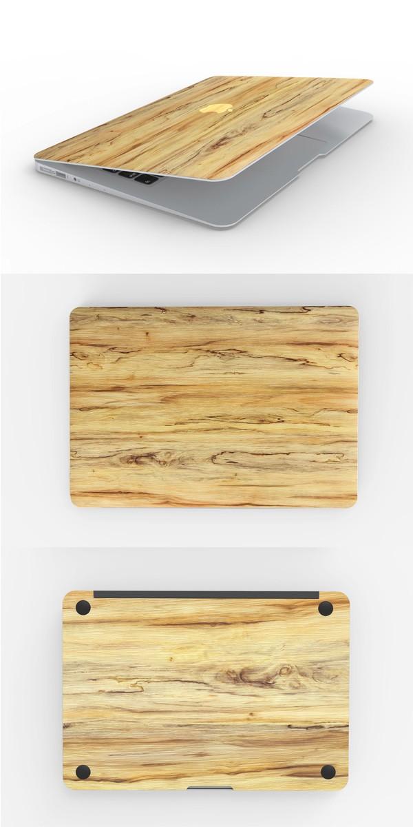 MacBookスキンシール木目3