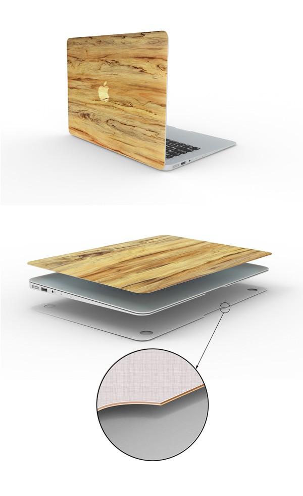 MacBookスキンシール木目4