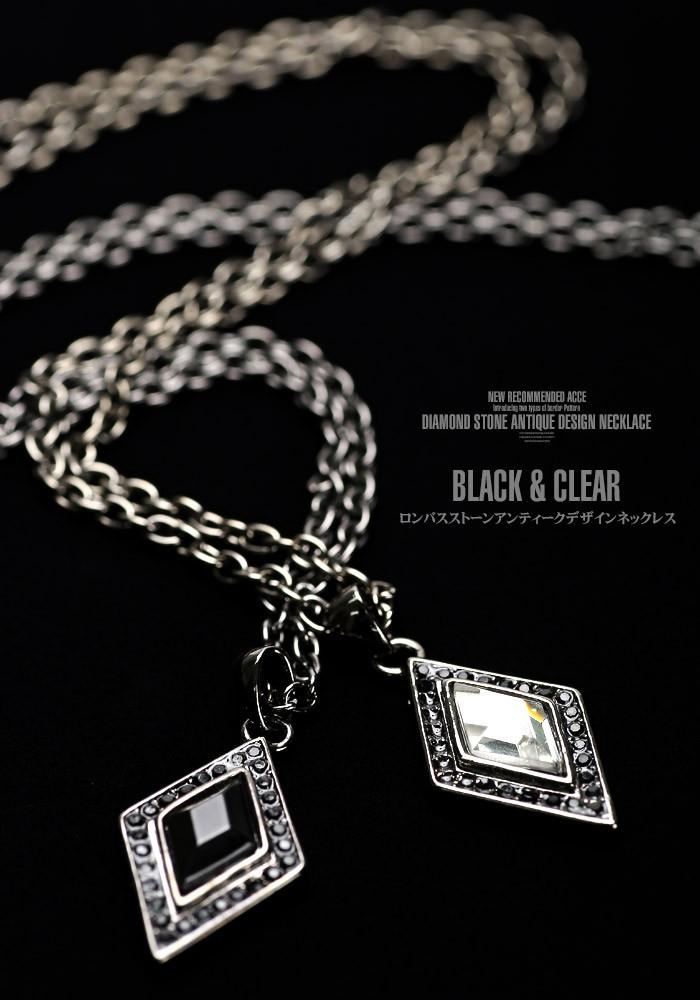 ネックレス メンズ アクセサリー ペンダント アクセ メンズアクセ お兄系 V系 カジュアル キレイめ スクエア 四角 菱形 ダイヤ ダイヤ型 ダイヤモンド ホスト ファッション 5