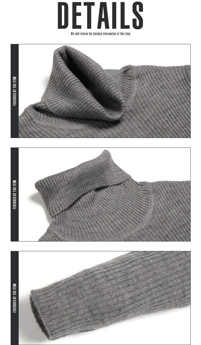 タートルネックニット メンズ ニット タートルネック ハイネック セーター タートルネックニット 無地 細身 タイト インナー BITTER ビター系 お兄系 ファッション 14
