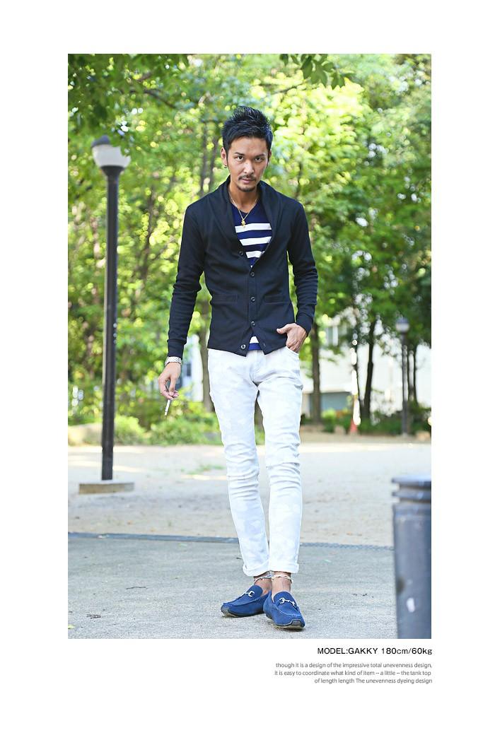 カーディガン メンズ テレコ ショールカラー ファッション ブラック