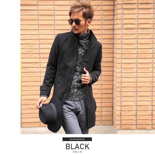コート メンズ イタリアンカラー メルトン ウール ロングコート アウター 上品 大人 秋冬 ビター系|lux-style|17