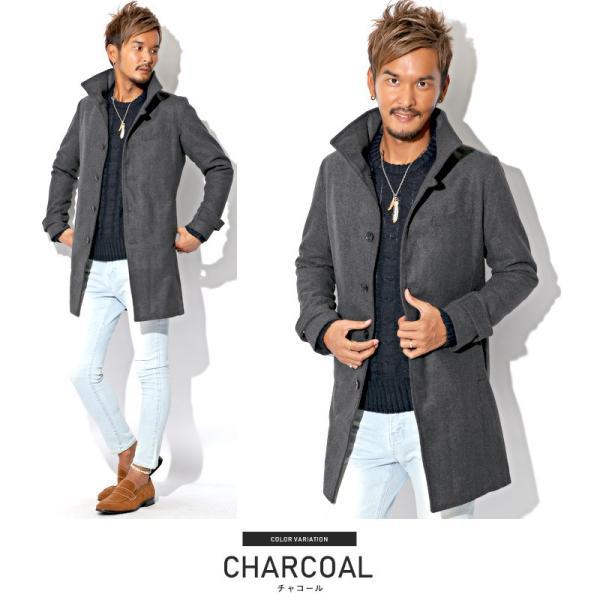 コート メンズ イタリアンカラー メルトン ウール ロングコート アウター 上品 大人 秋冬 ビター系|lux-style|18