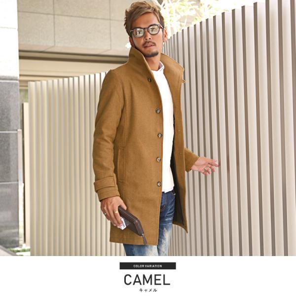 コート メンズ イタリアンカラー メルトン ウール ロングコート アウター 上品 大人 秋冬 ビター系|lux-style|19