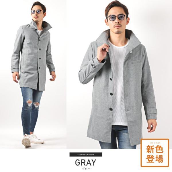 コート メンズ イタリアンカラー メルトン ウール ロングコート アウター 上品 大人 秋冬 ビター系|lux-style|21