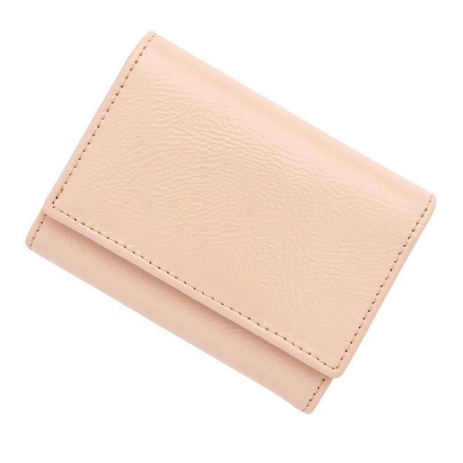 極小財布 エナメル/牛革 コーラルピンク 12,000円(税込 13,200円)