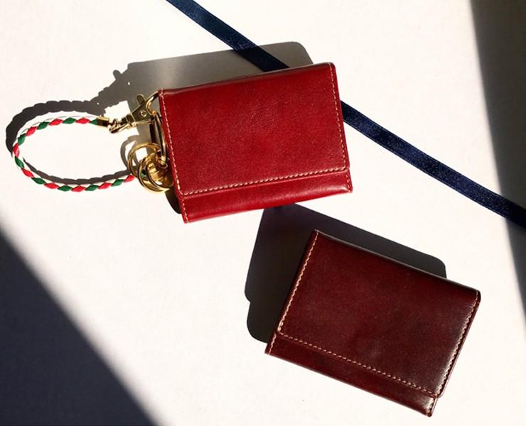 BECKER(ベッカー)極小財布 トスカーナレザー/牛革 レッド \13,000(税抜) キャッシュレスにBECKERミニ財布♪