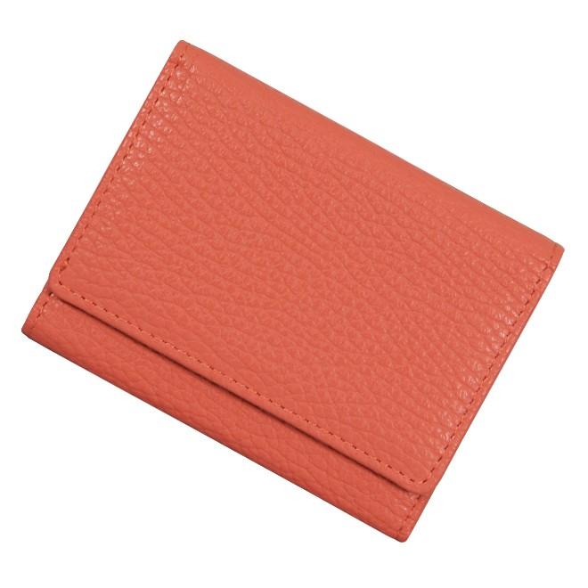 極小財布 ソフトシュリンク/牛革 ADRIA コーラルオレンジ 13,000円(税込 14,300円)
