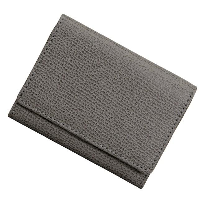 極小財布 シボ型押し/牛革 CRUMBS/イタリアンレザー グレー \13,500(税抜)