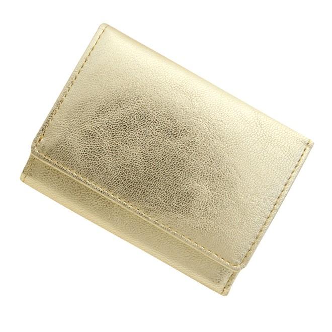 極小財布 ゴートスキン/山羊革 メタリックゴールド \13,000(税抜)