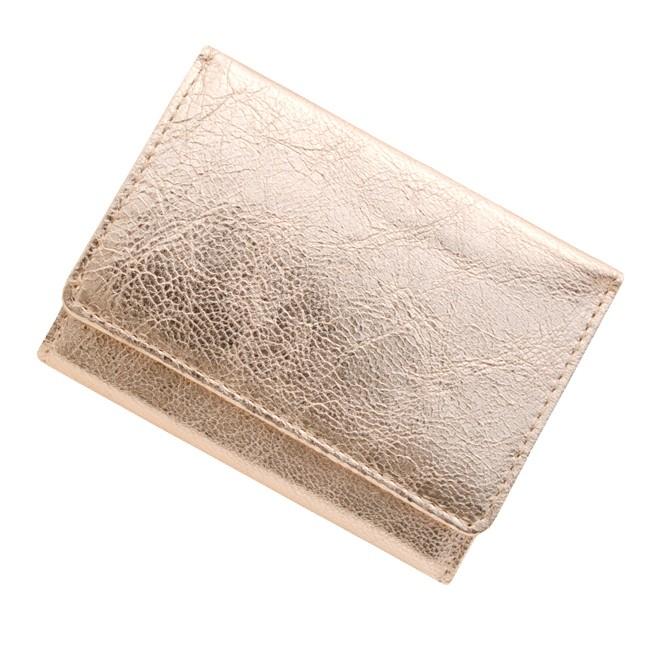 BECKER ベッカー 極小財布 ゴートスキン/山羊革 メタリックピンク 14,300円(税込)