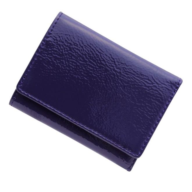 極小財布 エナメル/牛革 パープル 12,000円(税込 13,200円)