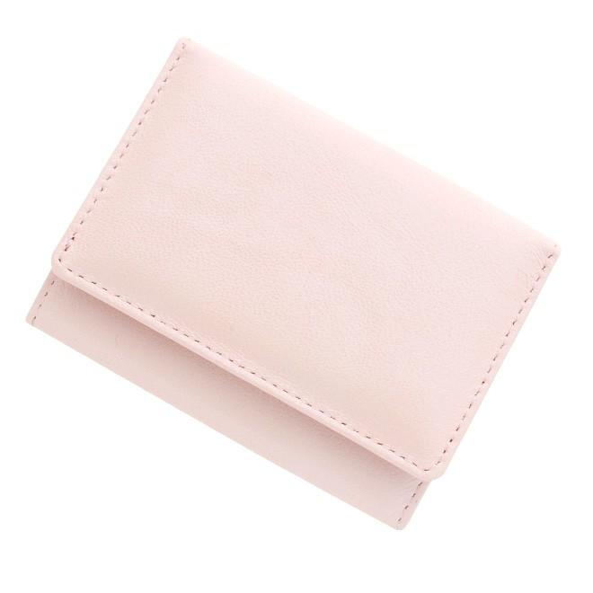極小財布 シープスキン メタリック シャイニーオーロラピンク \15,000(税抜)
