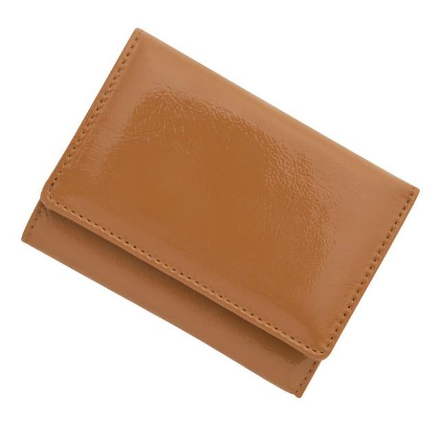 BECKER ベッカー 極小財布 進藤やす子コラボ 牛革 エナメルキャメル 14,000円(税込 15,400円) 日本製