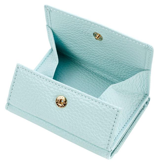 極小財布 BOX型 イタリアンレザー/ADRIA ソフトシュリンクレザー ミント BECKER(ベッカー) 日本製