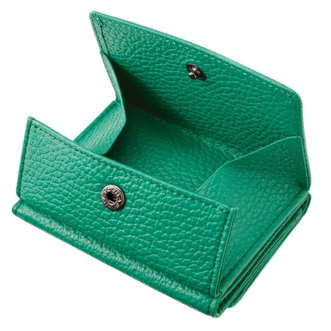 BECKER ベッカー 極小財布 Box型小銭入れ ソフトシュリンク 「グリーン」 イタリアンレザー/ADRIA 15,000円(税込 16,500円)