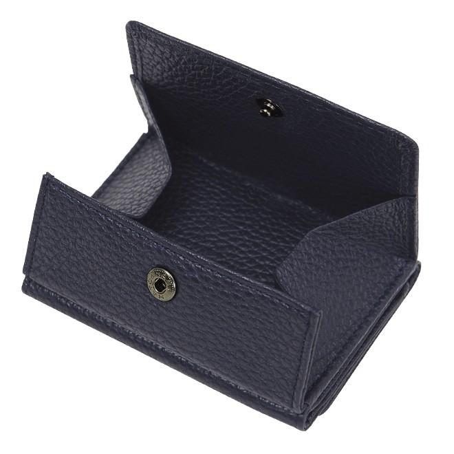 BECKER ベッカー 極小財布 Box型小銭入れ ソフトシュリンク ネイビー イタリアンレザー/ADRIA 15,000円(税込 16,500円)