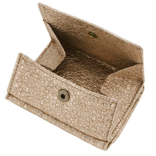 BECKER ベッカー 極小財布 Box型小銭入れ グリッター ゴートスキン/山羊革 ゴールド 14,000円(税込 15,400円)
