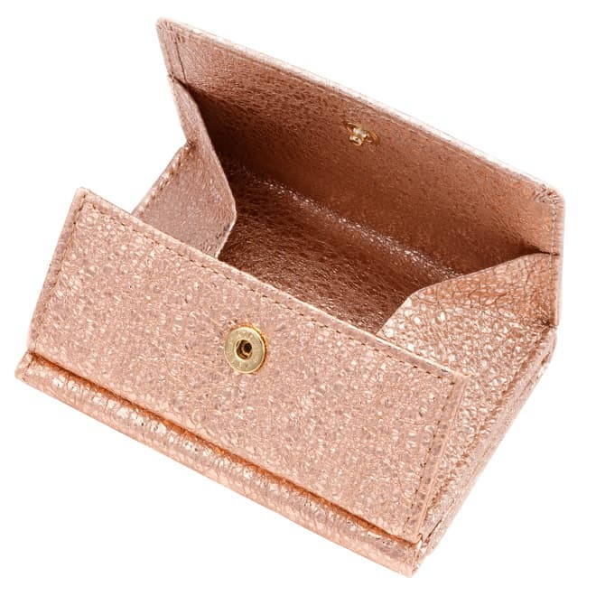 極小財布 Box型 ゴートスキン/山羊革 グリッター ピンク 14,000円(税込 15,400円)
