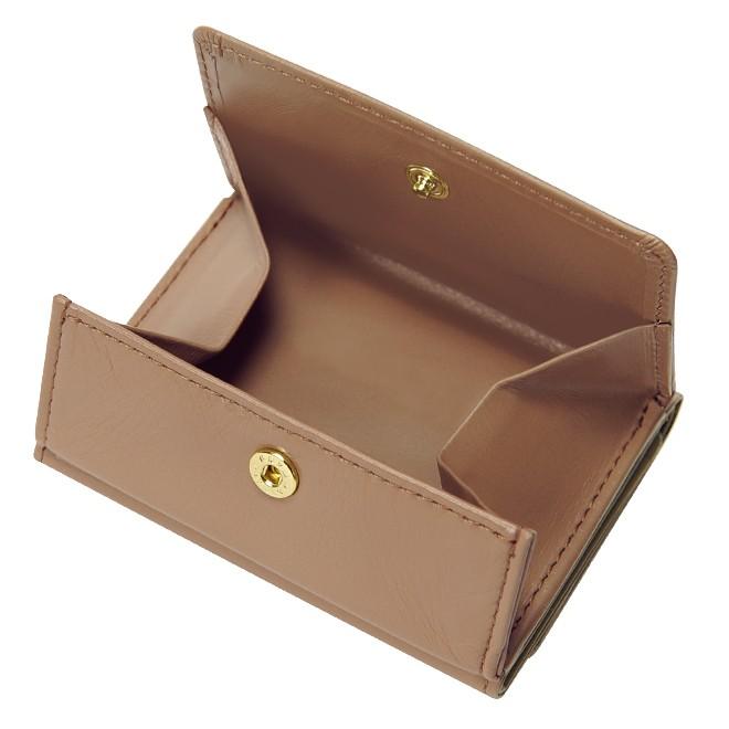極小財布 ボックス型 スムース/牛革 グレージュ 15,000円(税込 16,500円)
