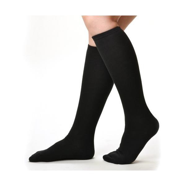 3足セット 着圧ハイソックス 靴下 ソックス レディース 日本製 綿混 むくみ コットン シンプル 定番 春物 春夏 ハイソックス ブラック 黒 M|m-mall|10
