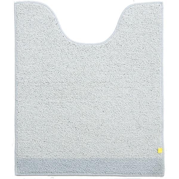 トイレマット (約75×63cm)プラット (おしゃれ 無地 グレー プレーン ふかふか シンプル) オカ|m-rug|12