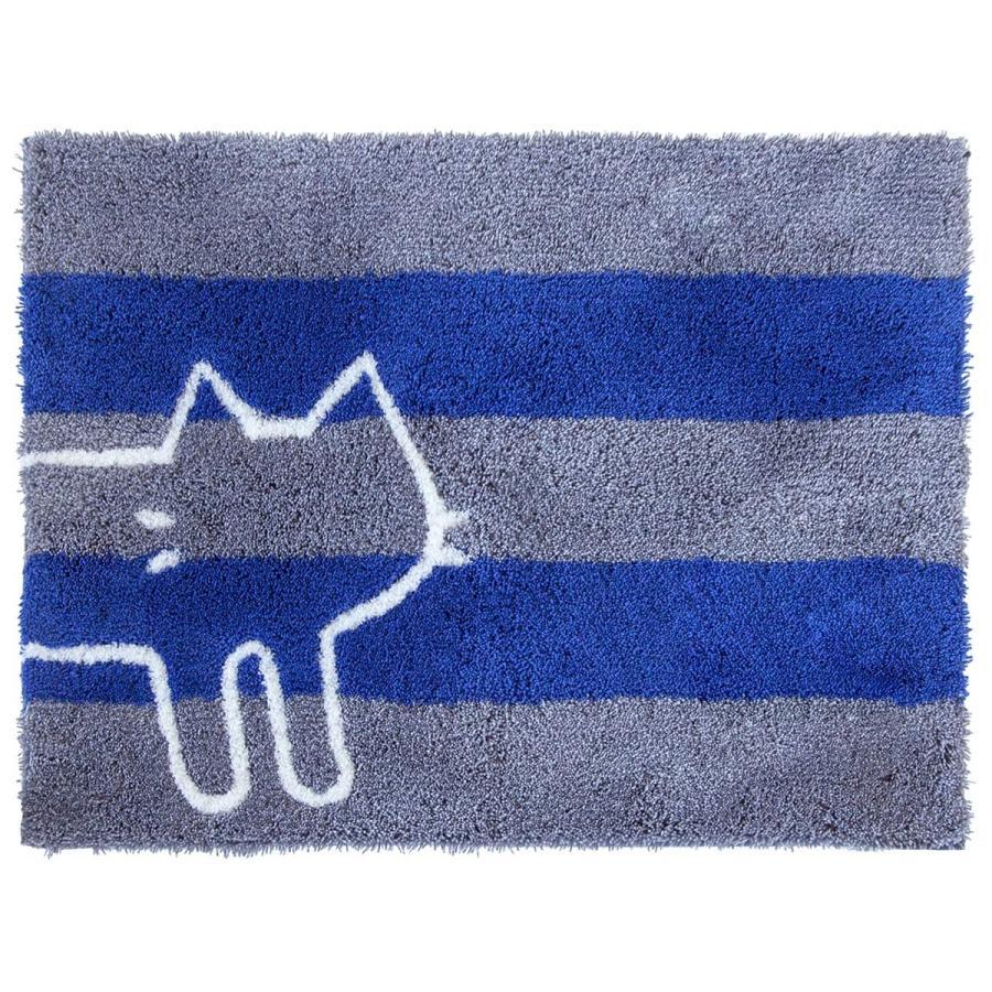 バスマット 吸水 速乾 乾度良好 うちねこ 約45×60cm  (おしゃれ お風呂マット 足ふきマット 洗濯可 日本 メーカー ネコ 猫)  オカ|m-rug|17