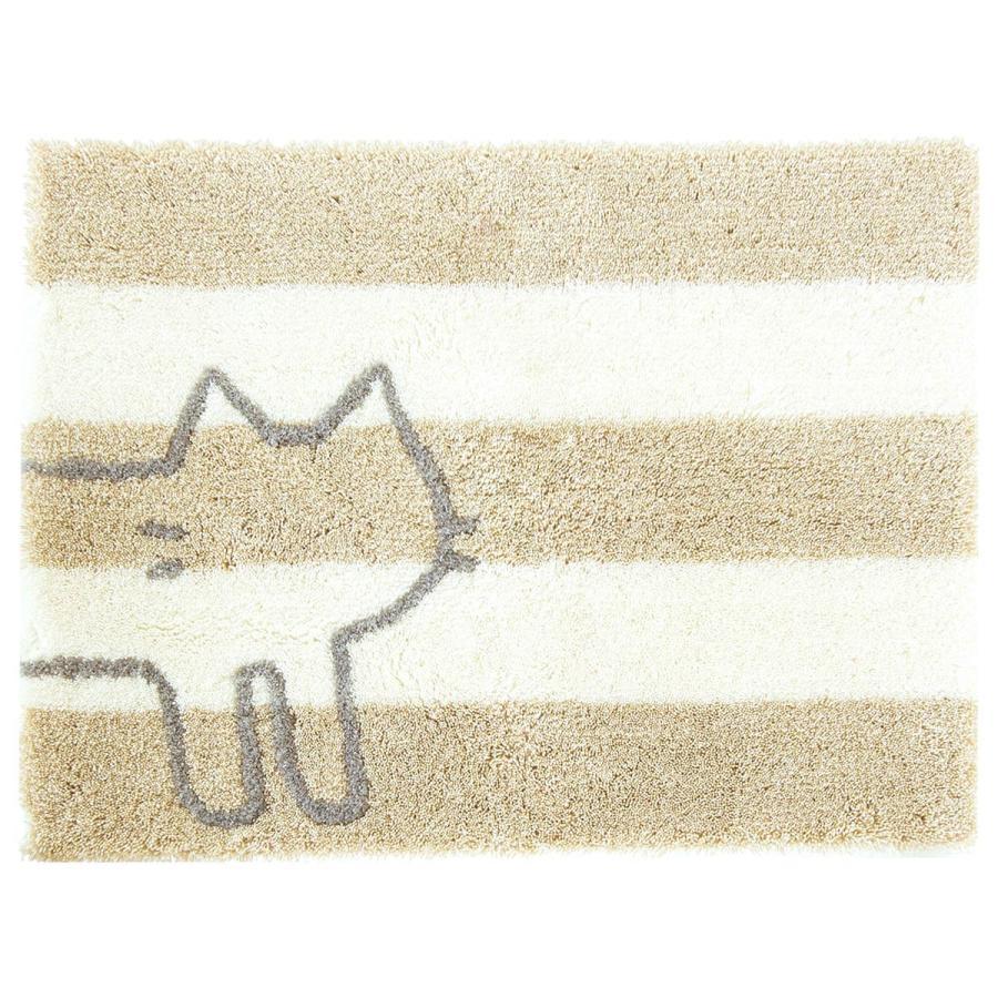 バスマット 吸水 速乾 乾度良好 うちねこ 約45×60cm  (おしゃれ お風呂マット 足ふきマット 洗濯可 日本 メーカー ネコ 猫)  オカ|m-rug|18