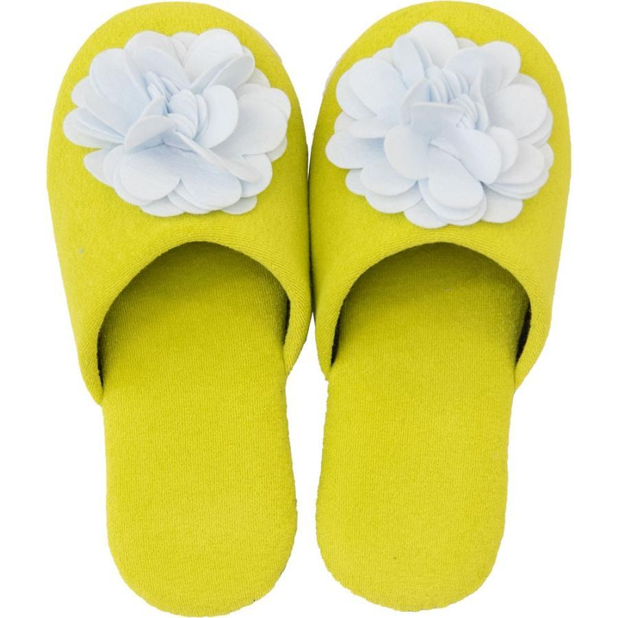 スリッパ フェルトのお花がキュートなスリッパ ジュエルフラワー (暖か あたたか ルームシューズ 洗える タオル地 おしゃれ 花 コサージュ)  オカ|m-rug|17