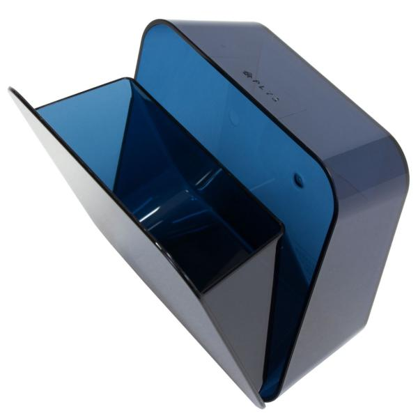 ゴミ箱 PLYS base (プリスベイス) 洗面ゴミ箱 小さい 壁 貼り付けられる マジックテープ クリア 小さめ グッドデザイン賞 m-rug 14