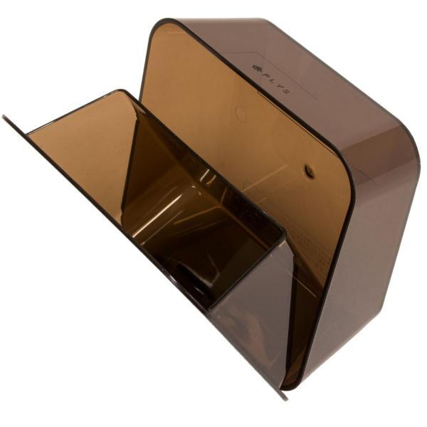 ゴミ箱 PLYS base (プリスベイス) 洗面ゴミ箱 小さい 壁 貼り付けられる マジックテープ クリア 小さめ グッドデザイン賞 m-rug 16