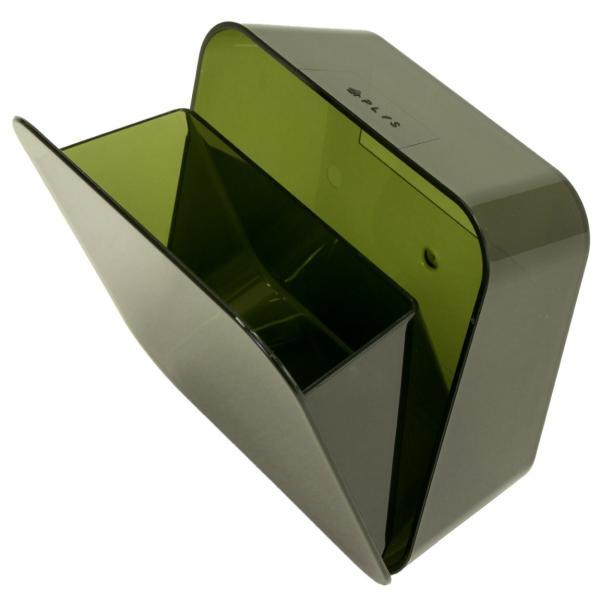 ゴミ箱 PLYS base (プリスベイス) 洗面ゴミ箱 小さい 壁 貼り付けられる マジックテープ クリア 小さめ グッドデザイン賞 m-rug 15