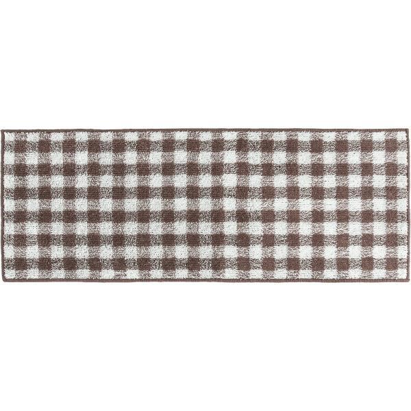 キッチンマット 約120cm×45cm ギンガムチェックキッチンマット(洗える おしゃれ チェック かわいい) オカ|m-rug|19