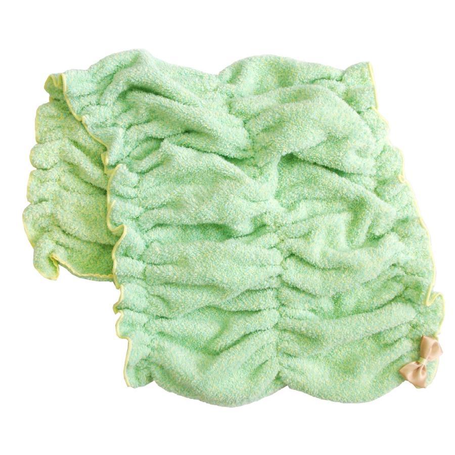 シェリールスフレ ヘアドライタオル 髪用 伸びる お風呂上がり 入浴後 もこもこ かわいい メランジェ  リボン オカ|m-rug|12