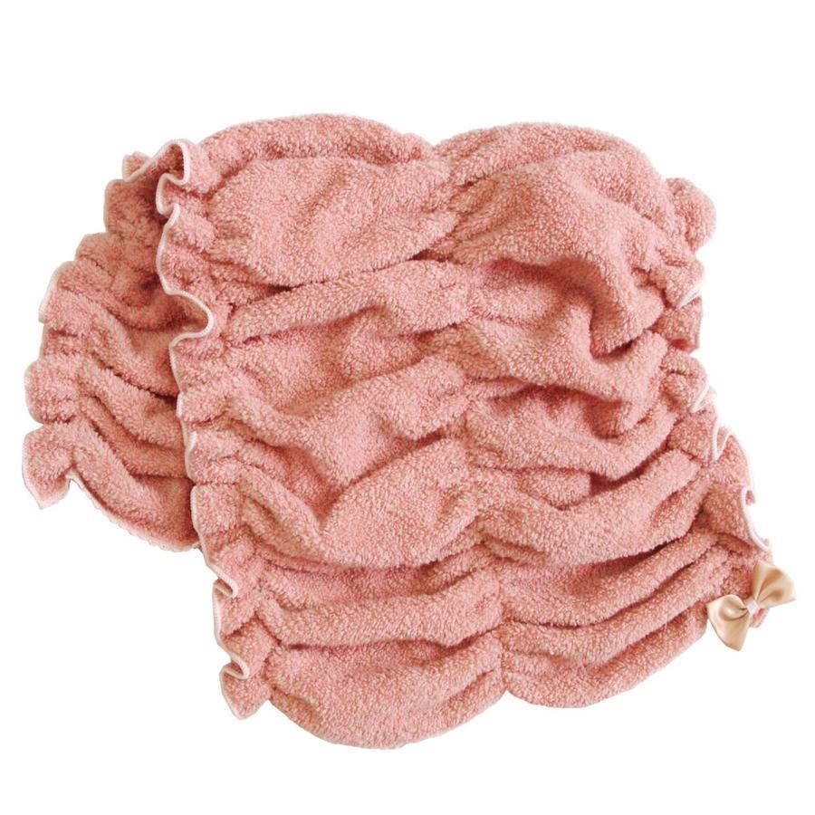 シェリールスフレ ヘアドライタオル 髪用 伸びる お風呂上がり 入浴後 もこもこ かわいい メランジェ  リボン オカ|m-rug|11