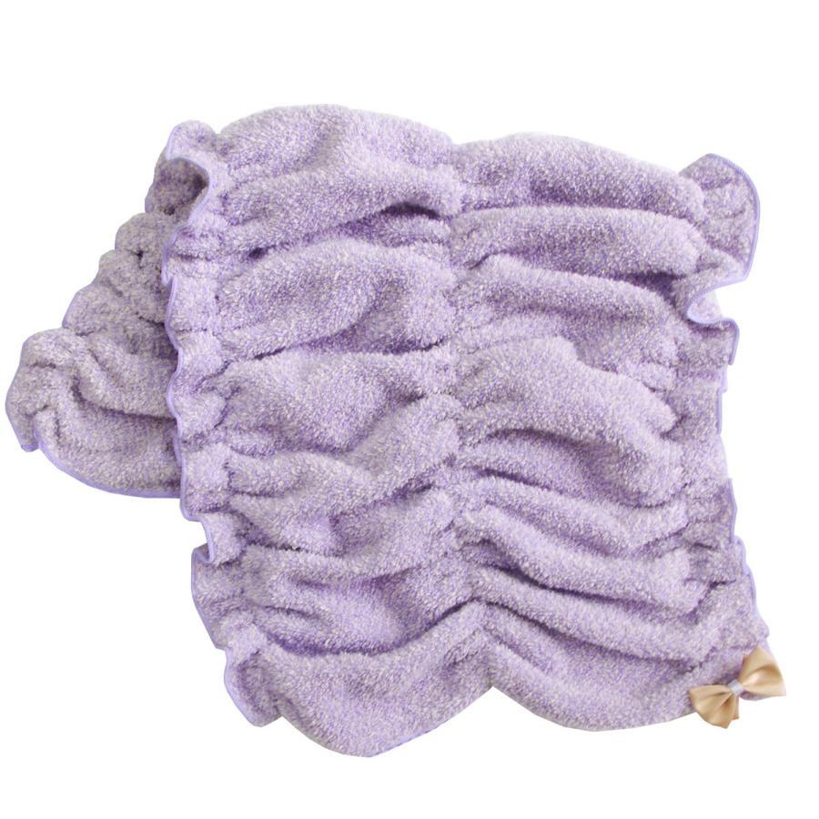 シェリールスフレ ヘアドライタオル 髪用 伸びる お風呂上がり 入浴後 もこもこ かわいい メランジェ  リボン オカ|m-rug|13