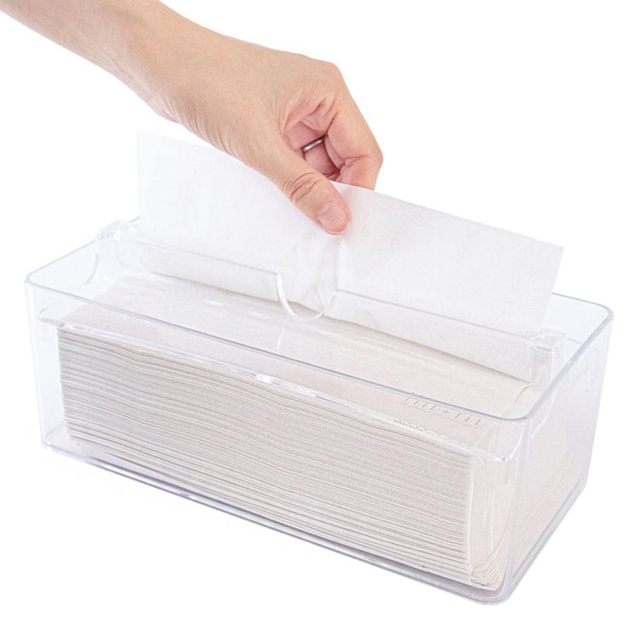 ティッシュケース fill+fit ペーパータオルケース   (ウイルス対策 ティッシュケース 詰め替え 入れ替え おしゃれ 白 ホワイト キッチンペーパー)  オカ m-rug 24