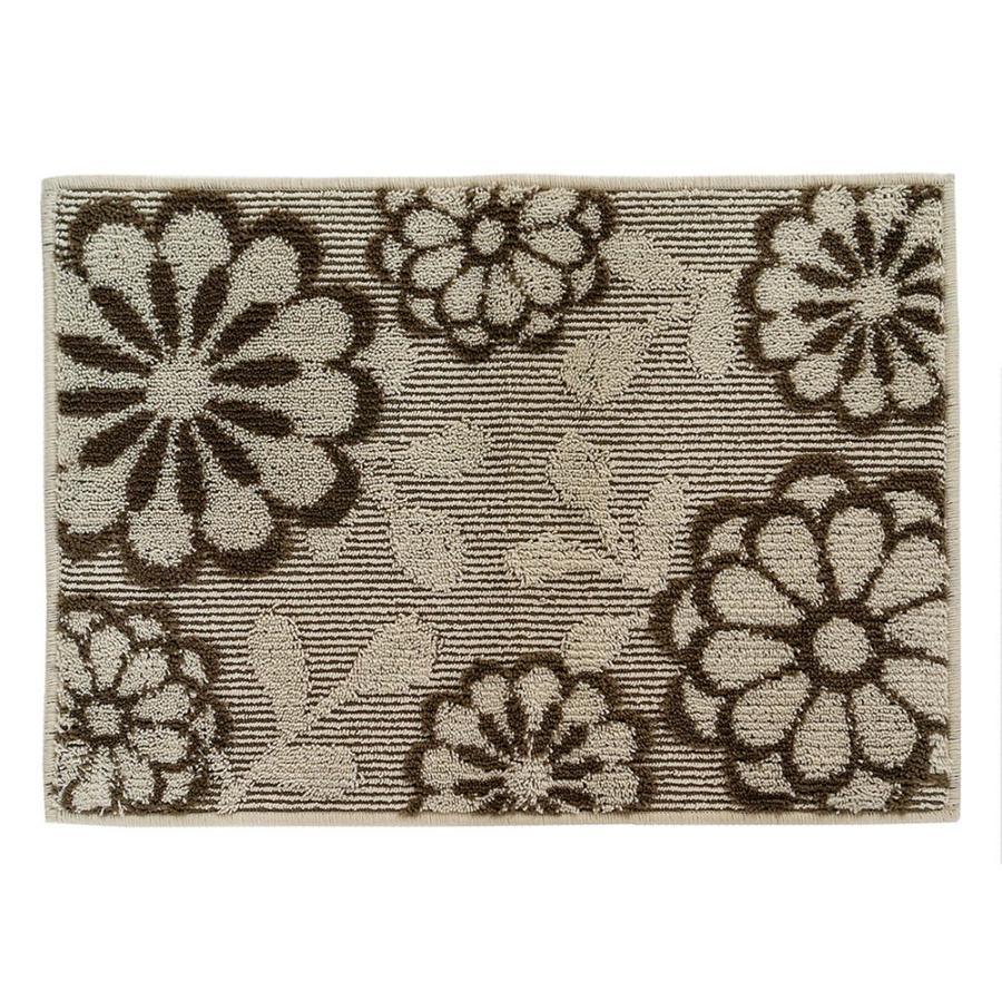 玄関マット 室内 ブルーム 約50×70cm   (コーナー吸着つき 吸着シート 洗える おしゃれ ずれない 花柄)  オカ|m-rug|12