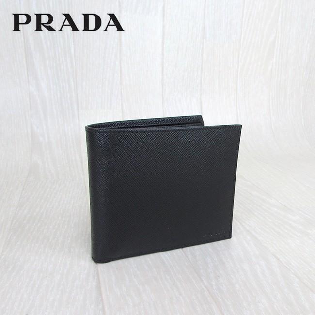 PRADA プラダ 二つ折り財布 小銭入れ付 財布 サフィアーノ  メンズ レディース