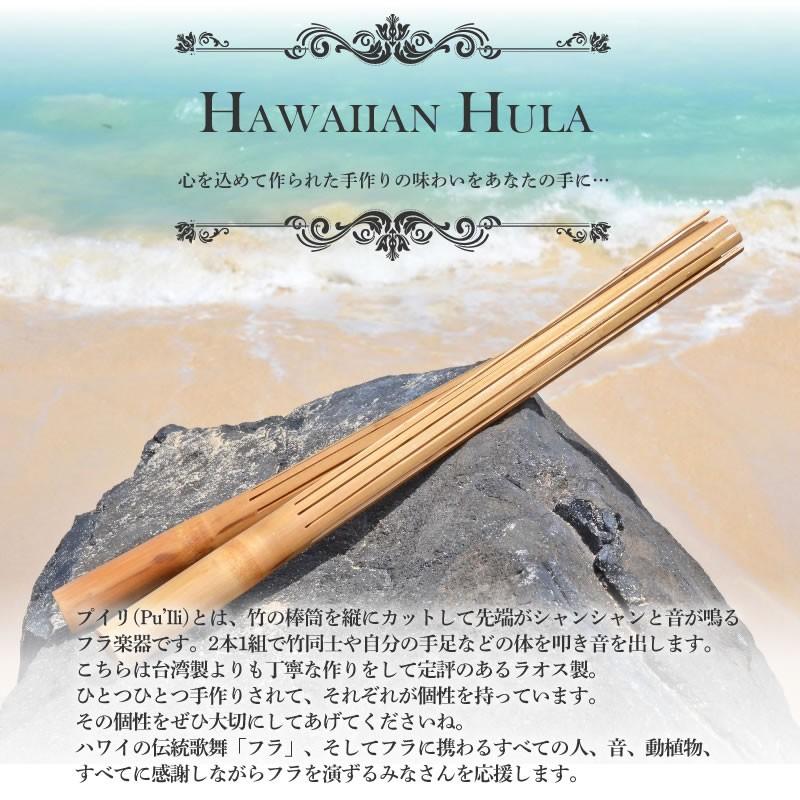 ハワイのフラダンス楽器プイリ